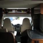 interior autocaravana panel de mando